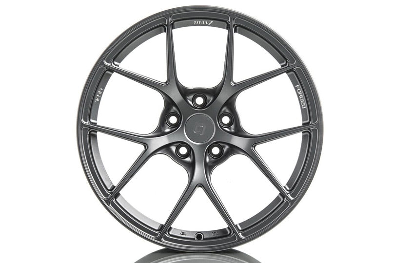 "Titan 7 T-S5 Wheels - 19"" Satin Titanium"
