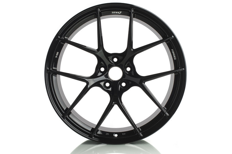 "Titan 7 T-S5 Wheels - 18"" Machine Black"