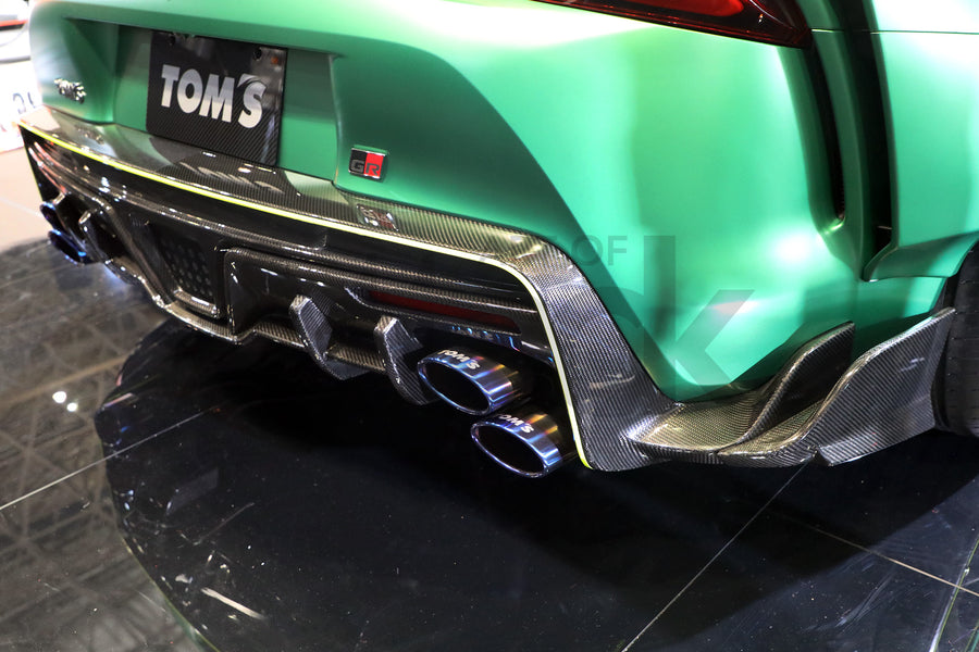 tom's racing toyota supra a90 rear bumper diffuser