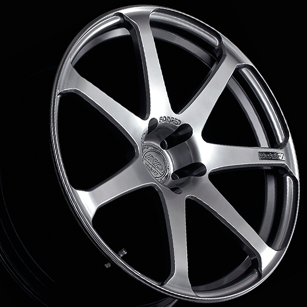 Advan AVS Model F7 Wheels - Platinum Silver