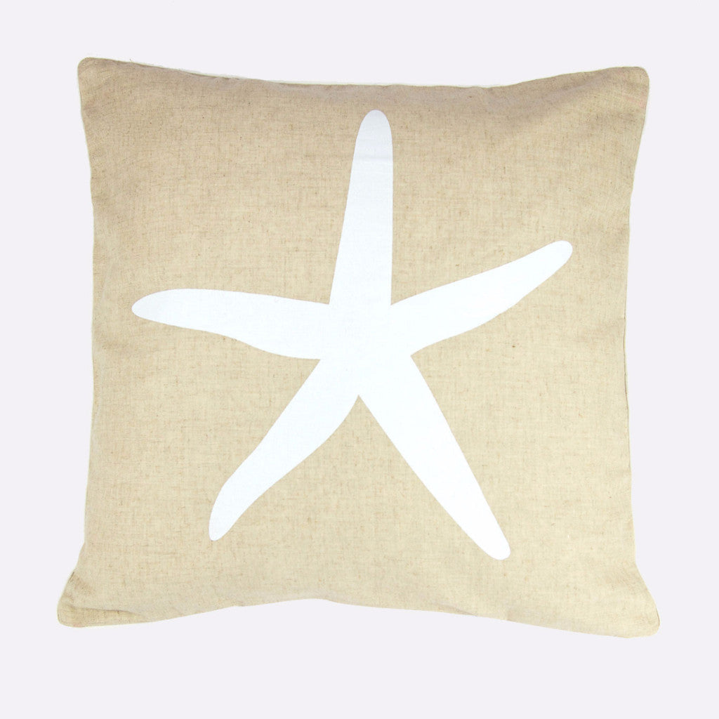 Starfish - White on natural