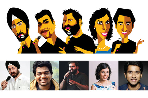 Standup Comedy Festival Caricature Portraits