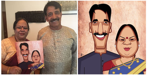 Caricature Artist India, Prasad Bhat, Graphicurry, Vector Art, Personalized Caricature, Classic Mugshot by Prasad Bhat, Personalized gifts