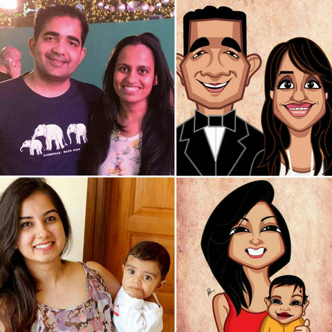 Caricature Artist India, Prasad Bhat, Graphicurry, Vector Art, Personalized Caricature, Classic Mugshot by Prasad Bhat