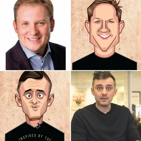 Gary Vaynerchuk caricature, Caricature Artist India, Prasad Bhat, Graphicurry, Vector Art, Personalized Caricature, Classic Mugshot by Prasad Bhat