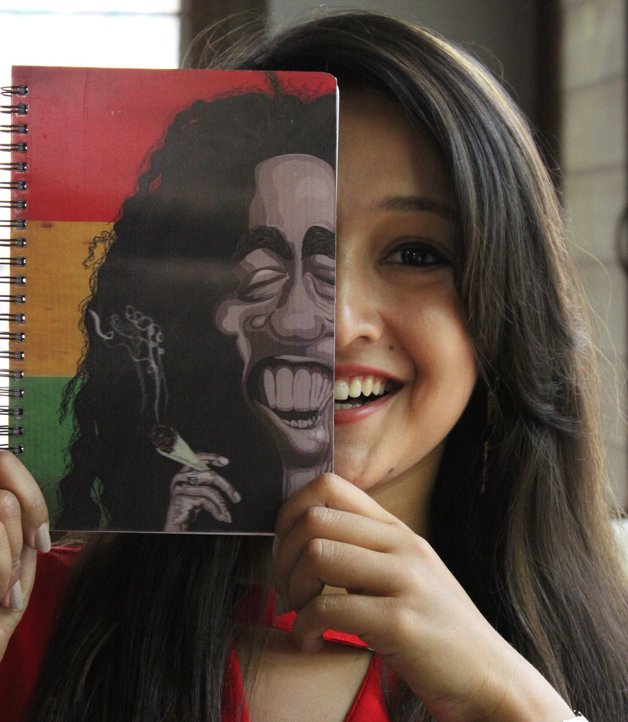 Bob Marley 3D print Diary from Graphicurry. Caricature art by Prasad Bhat