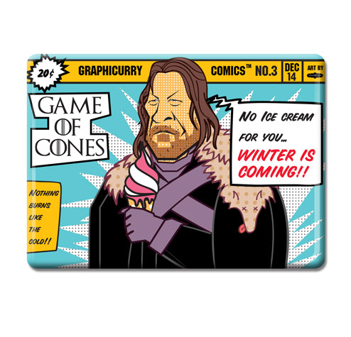 Game Of Cones Magnet