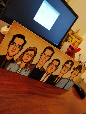 Tribute art by Prasad Bhat to all the Office characters, perfect for your workstation