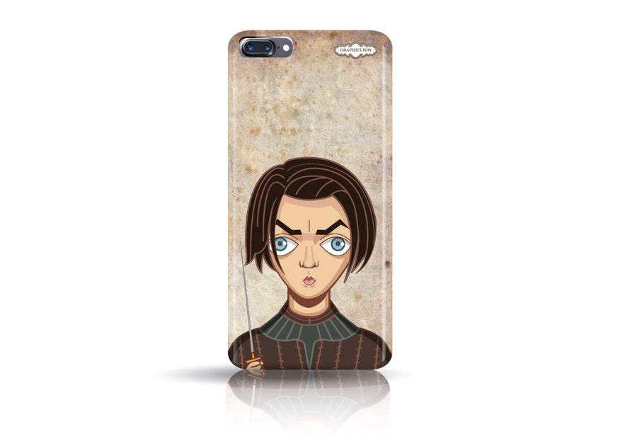 Arya Stark Iphone 7 plus phone case from Graphicurry. Caricature art by Prasad Bhat.