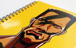 Arnold Schwarznegger Art Cover Notebook by Prasad Bhat