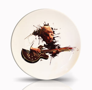 BB King Wall Decor Plate with art by Prasad Bhat
