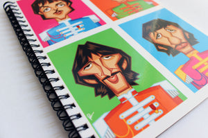 The Beatles Caricature Art Cover Notebook by Prasad Bhat