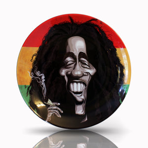 Bob Marley Wall Decor Plate by Prasad Bhat