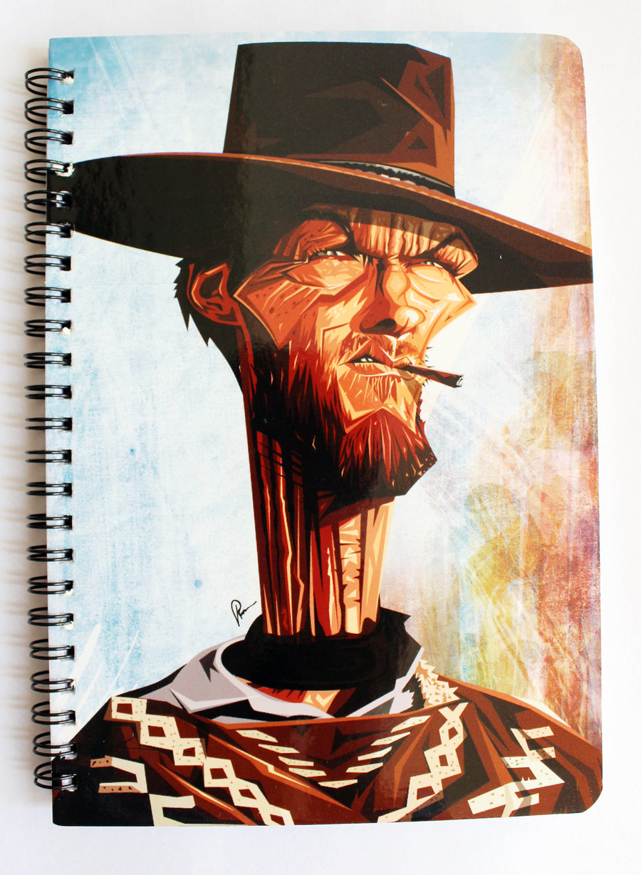Clint Eastwood Art Cover Notebook by Prasad Bhat