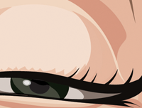 Zoomed in close up of Marilyn Monroe's dreamy eyes. Caricature art by Prasad Bhat.