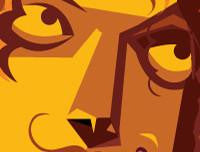 "Led zeppelin artwork with the band members playing ""Stairway to Heaven"". Pop art by Prasad Bhat. Image shows the zoomed in close up of the band member's eyes"