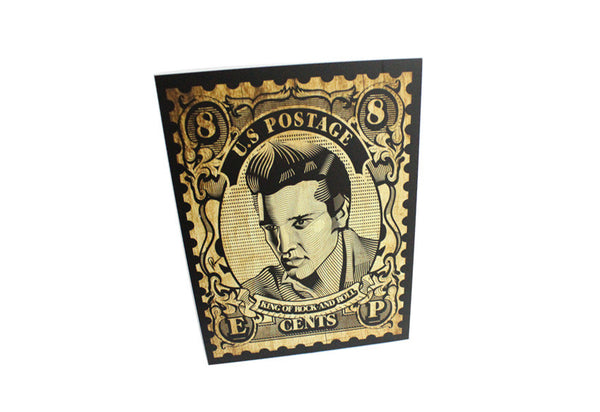 Elvis Stamp Wall Art