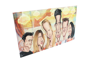 Side view of Friends Caricature Wall Art by artist Prasad Bhat from Graphicurry
