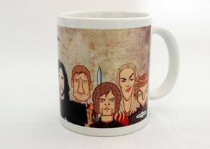 Tyrion in Game of Thrones tribute art on Coffee Mug by Graphicurry, art by Prasad Bhat.
