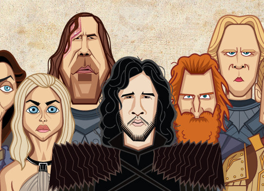 Tribute art by Prasad Bhat to all the GOT characters