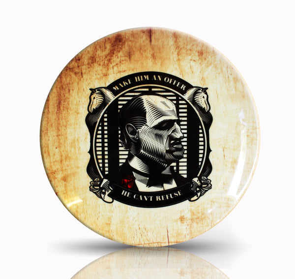 Godfather Stamp Style artwork by Prasad Bhat on Ceramic Decor Plate