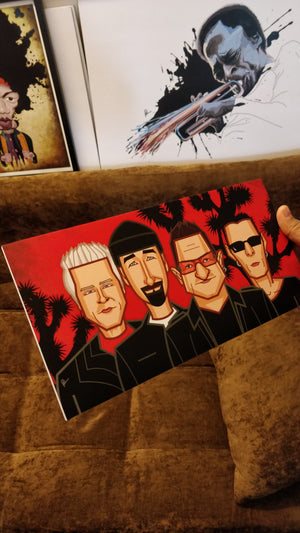Tribute to U2 Wall Art