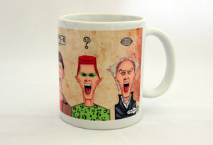 Jim Carrey's Humorous Avatars in Prasad Bhat's caricature artwork on a coffee mug