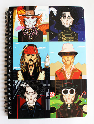 Johnny Depp Art Cover Notebook by Prasad Bhat