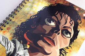 Michael Jackson Caricature Artwork Notebook by Prasad Bhat