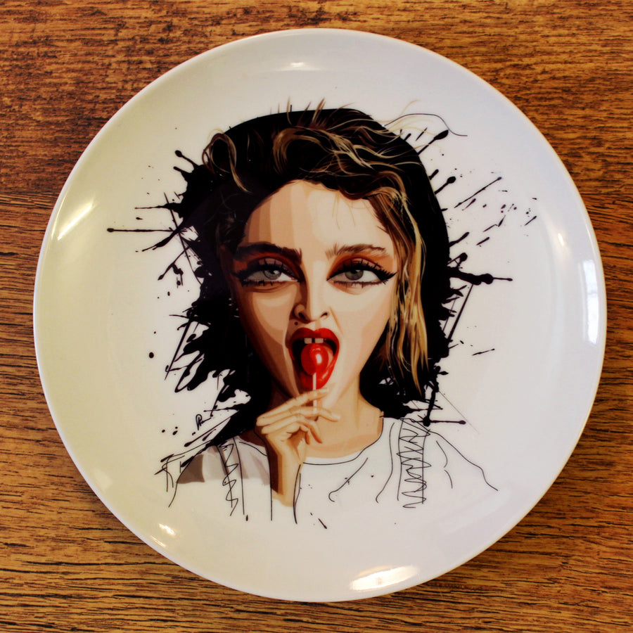 Material Girl Decor Plate