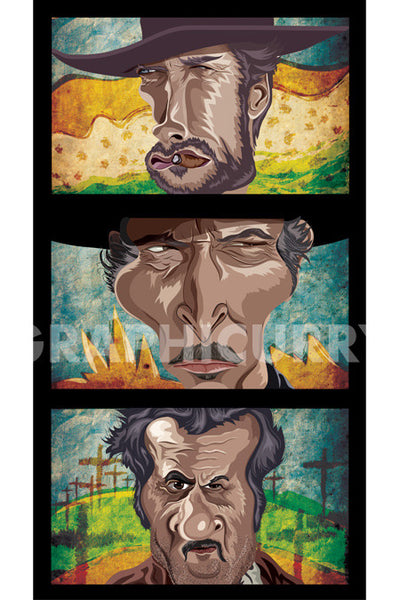 The Good, The Bad And The Ugly Wall Art by Graphicurry