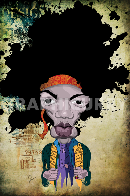 Hendrix Wall Art by Graphicurry