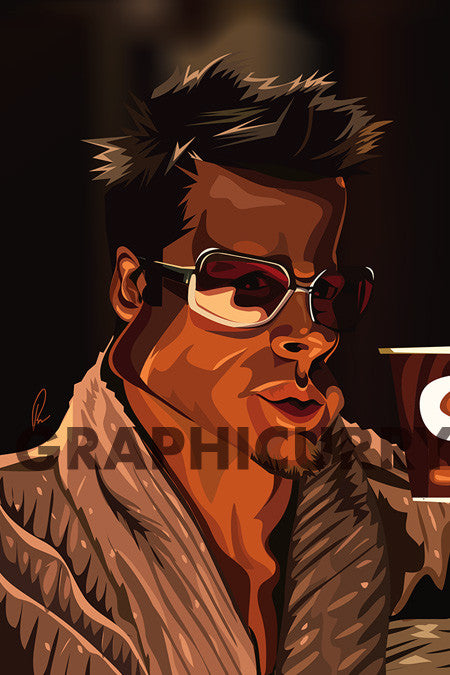 Tyler Durden (Fight Club) Wall Art by Graphicurry