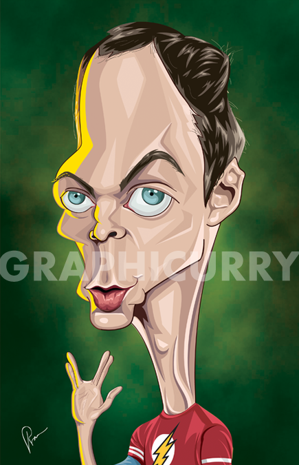 Sheldon Caricature by Graphicurry