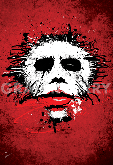 The Joker Wall Art by Graphicurry