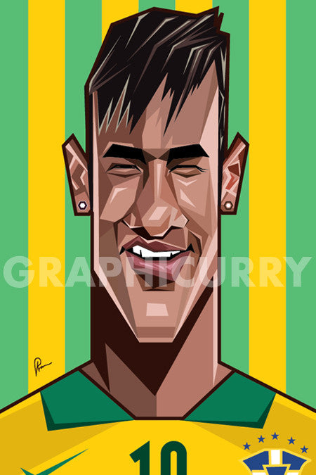 Neymar Wall Art by Graphicurry