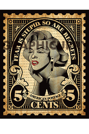 Monroe Stamp Wall Art by Graphicurry