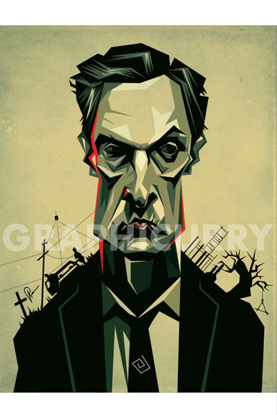 The True Detective Wall Art by Graphicurry