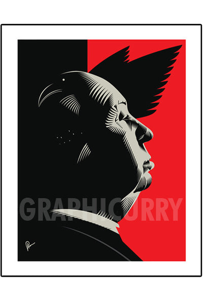 Hitchcock Wall Art by Graphicurry
