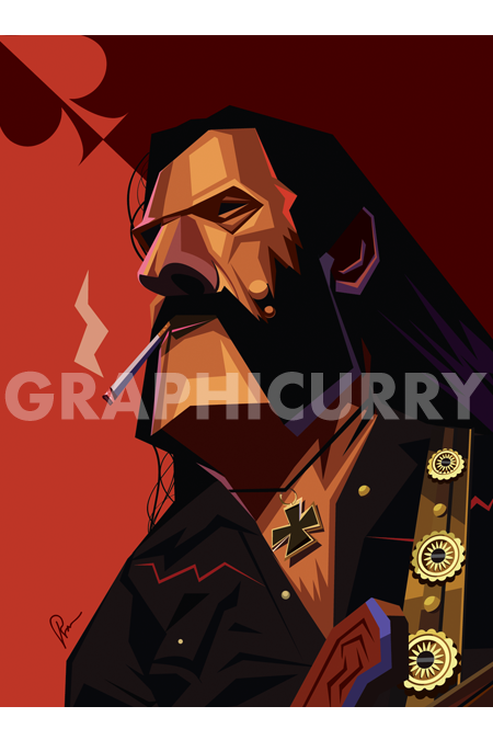 Lemmy Wall Art by Graphicurry