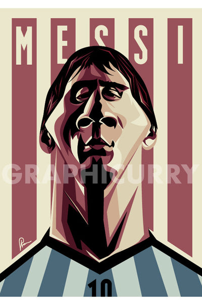 Messi Wall Art by Graphicurry