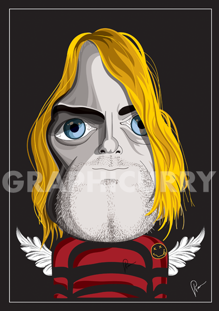 Cobain Wall Art by Graphicurrry