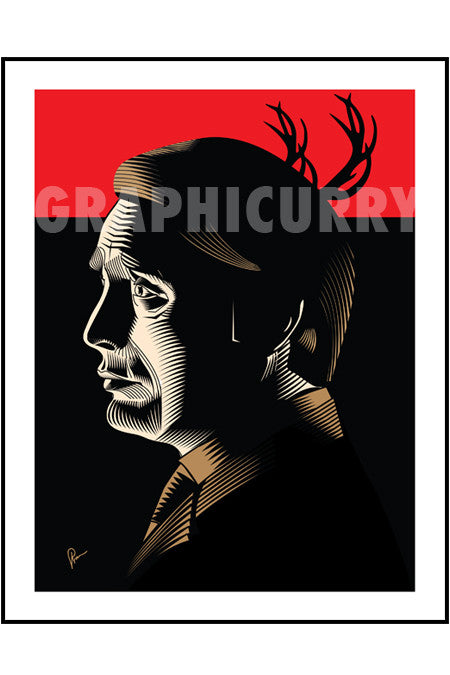 Hannibal Wall Art by Graphicurry