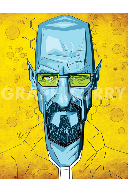 Breaking Bad Wall Art by Graphicurry