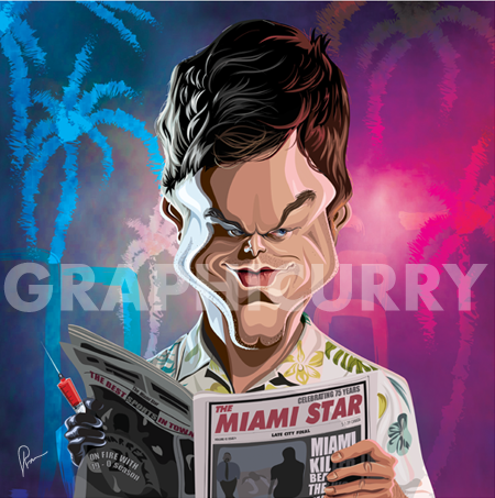 Dexter Tribute Wall Art by Graphicurry