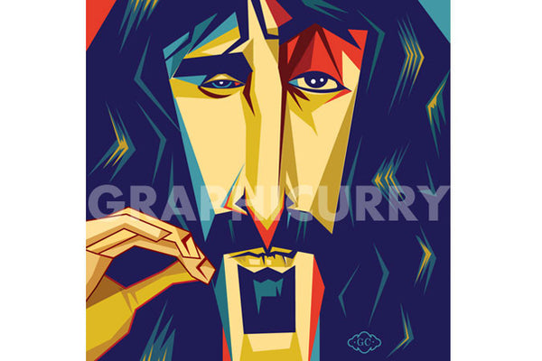 Zappa SquarePop Art by Graphicurry