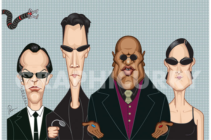 Matrix Tribute Wall Art by Graphicurry