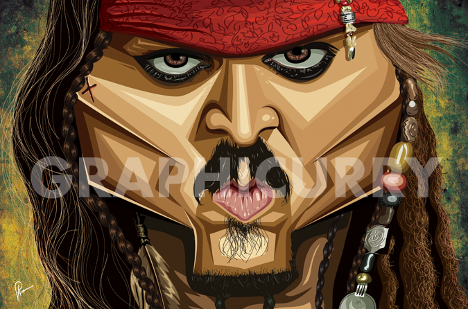 Jack Sparrow Wall Art by Graphicurry