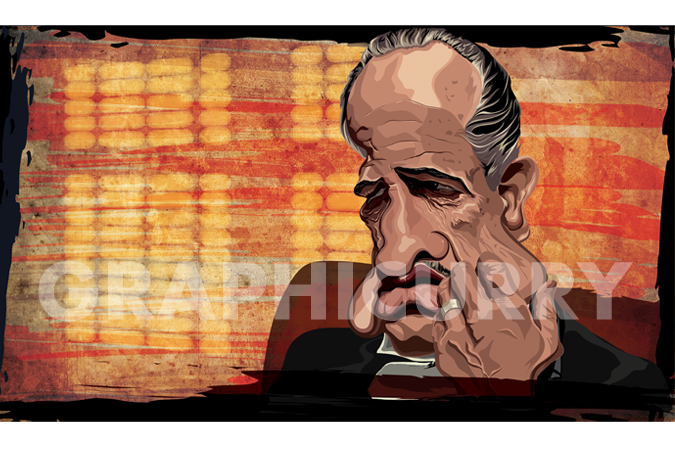Don Corleone Wall Art by Graphicurry