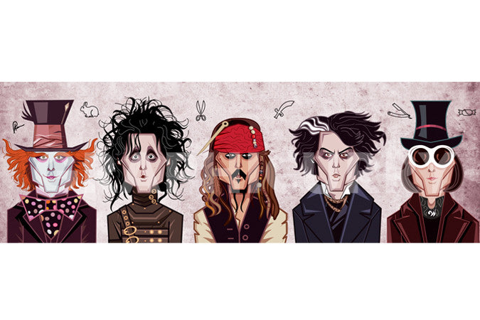 Johnny Depp Tribute Wall Art by Graphicurry